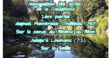 De Montreux-Château (90) sur le canal du Rhône au Rhin jusqu'à Louhans (71)